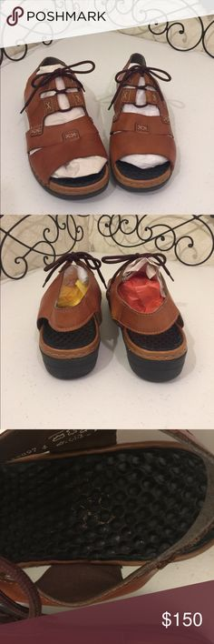 """RIEKER Leather Lace Up Sandal PRICE FIRM. Comfortable, """"ANTI-STRESS"""" sandals made with massaging footbed. Ghillie laces. Note: Sandals are Sz 42, run small, fit a US Sz 10. Rieker - """"The perfect balance between fashion and practicality."""" Heel 1.5,"""" platform 3/4."""" Please check out the rest of my🚪closet!💎 Rieker Shoes Sandals"""
