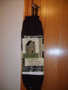 Everybody needs one of these!  Grocery Bag Dispenser/Holder by CrochetandOrnaments on Etsy, $8.00