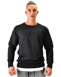 The Muscle Veuc Brachial Lifestyle Fitness Crew Neck Sweatshirt Crew Neck Sweatshirt, Pullover, Gym Wear, New Man, Hoodies, Sweatshirts, Black Sweaters, Casual Wear, Long Sleeve