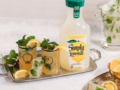 Kentucky Derby parties can get hot, but our mint juleps are served ice cold. Pair with mint lemonade ice cubes to keep your Simply Julep fresh while you refresh.