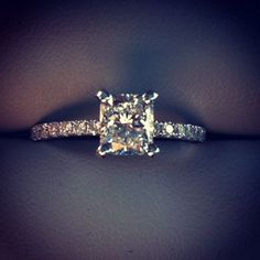 1-carat radiant cut diamond ring- my stunning engagement ring!!!