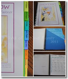 """""""Made by Mama"""" Five in a Row Planner ~ and lots of links"""