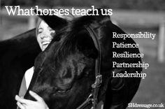 I'm so humble & grateful for the lessons horses have taught me.