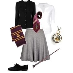 A fashion look from October 2013 featuring long sleeve cardigan, white blouse and circle skirt