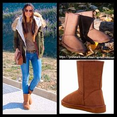 "Brown Boots Cozy Lined Winter Ankle Booties RETAIL PRICE: $ 78  NEW WITH TAGS  ***My closet's photographer Ted took the outdoor photo #2.  Brown Boots Vegan Shearling Lined    * Pull On style  * Solid Allover color  * Round Toe & exposed seams   * Soft & cozy lining  * 7.5"" high shaft & about a 15"" circumstance   Fabric: Polyester Lining Color: Chocolate Brown  Item: 123900 Bucco Brand For BP Nordstrom  No Trades ✅ Offers Considered*✅ *Please use the blue 'offer' button to submit an offer…"