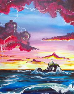 Painting up a Storm with a Tillamook Lighthouse @ Taste on 23rd