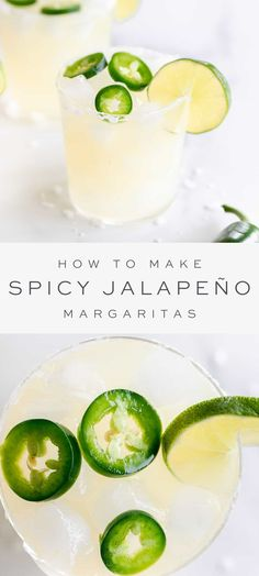 A spicy margarita recipe that is the perfect sidekick to so many of your favorite Mexican-inspired dinners! This Jalapeño Margarita recipe has the perfect amount of spicy pepper flavor – just enough kick, but not-too-much! Spicy Margarita Recipe, Pitcher Margarita Recipe, Homemade Margarita Mix, Homemade Margaritas, Frozen Margarita Recipes, Easy Drink Recipes, Drinks Alcohol Recipes, Summer Recipes, Healthy Lemonade