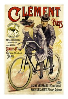 Bicycle collectors and world travelers alike will love the vintage charm of the Global Gallery Clement Bicycles Canvas Wall Art. This fun canvas is designed in classic French style. Vintage Advertisements, Vintage Ads, Vintage Posters, French Vintage, Bicycle Print, Bike Poster, Old Bicycle, Bicycle Girl, Bicycle Maintenance