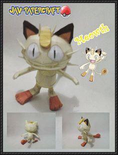 Pokemon - Meowth Ver.2 Free Papercraft Download - http://www.papercraftsquare.com/pokemon-meowth-ver-2-free-papercraft-download.html