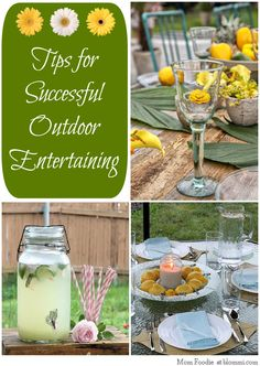Tips for Successful Outdoor Entertaining - Mom Foodie - Blommi