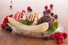 Banana Split Ice Cream Recipe - In Love With Ice Cream
