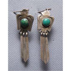 Navajo Silver Earrings - Thunderbirds
