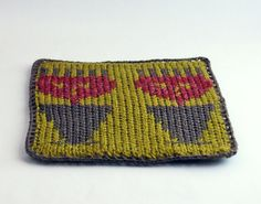 Knit and Crochet Coaster Personalized Gemini by Nothingbutstring, $8.00