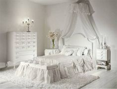 I'm putting drapes around Rylyn's bed like this. I'm not sure if I'm going to use white or a pinkish color.
