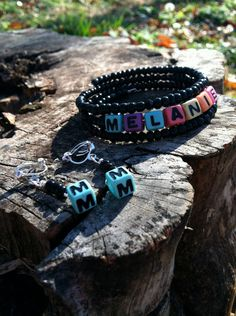 Neon Personalized Name Bracelet and Earring Set by VoiceDesigns, $10.00