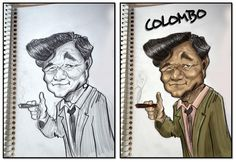 Colombo schetchbook and photoshop coloring