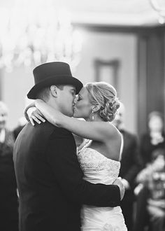 First Dance kisses :) - Kelly and Ryan's classy Fall wedding at the Grand Masonic Lodge of Maryland | Mary Brunst Photography