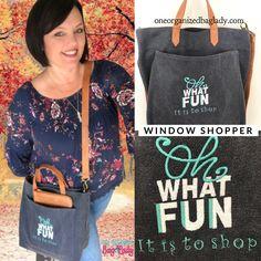 Get your window shopper and choose your personalization. #oneorganizedbaglady #thirtyonegifts #purse #pursesandbags #bags