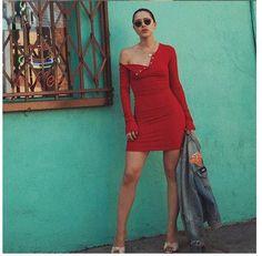 Sexy Scoop Snap Fastener Long Sleeve Bodycon Short Dress