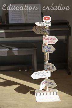panneaux du monde - My Tutorial and Ideas Jules Verne, Pilot Wedding, Diy For Kids, Crafts For Kids, Travel Party, Art Corner, Continents, Centre, Activities For Kids