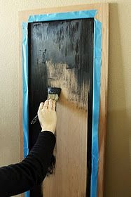 Make a chalkboard out of a old cabinet door... I think I am going to make the door that leads to the laundry room into a chalkboard for the kids :)