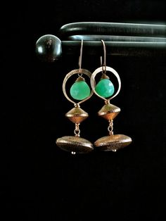Chrysoprase And Copper by AdornmentByNicole on Etsy, $35.00