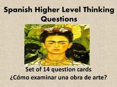 This set of Spanish Critical Thinking Questions is Common Core aligned and will supplement any unit on art. The set contains 14 cards and may be used in conjunction with any piece of art. Students may work in groups or individually. Enjoy! great for AP practice..