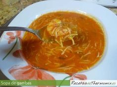 Sopa de gambas en Thermomix Crazy Cakes, Spanish Food, Spanish Recipes, Thai Red Curry, Food To Make, Seafood, Food And Drink, Tasty, Healthy Recipes
