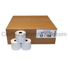2 1/4'' by 150' Bond Paper Rolls - 50 per case