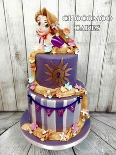 Rapunzel cake...gorgeous                                                                                                                                                                                 More
