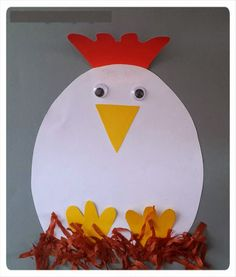 hen craft idea for kids | Crafts and Worksheets for Preschool,Toddler and Kindergarten