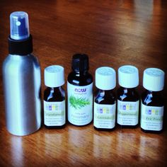 Lice prevention oil blend. For treating kids: 10 drops of each oil in 4 oz of water. Apply a few sprays on back/hair line & above ear/hair line everyday during lice outbreak.