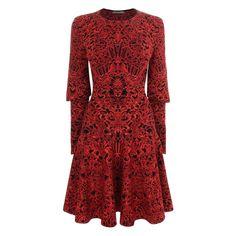 ALEXANDER MCQUEEN, Mini Dress, Glory Jacquard Knit Dress