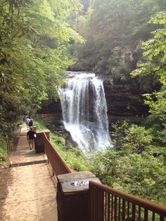 Dry Falls in Nantahala National Forest in NC