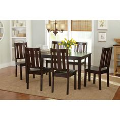 Better Homes and Gardens 7-Piece Dining Set, Mocha, 500x500 in 59.3KB