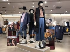 2017 Winter Collection ~ Ladies Instore Display Boutique Shop, Retail Design, Visual Merchandising, Winter Collection, Mannequin, Gap, Mom Jeans, Window, Display