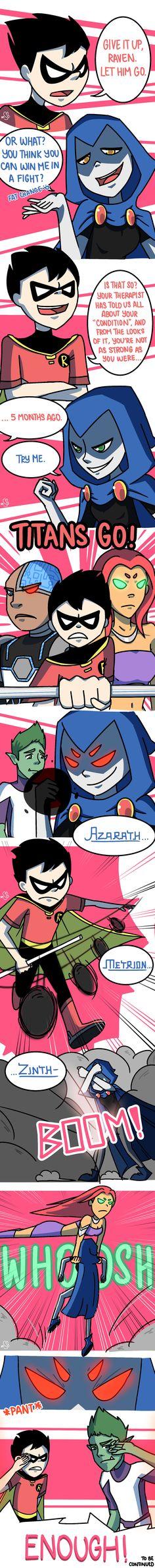 Titans: Refuge in Arkham #5 by samsolariusleo