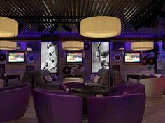 Дизайн караоке клуба Джем. Ресторан, кафе, бар