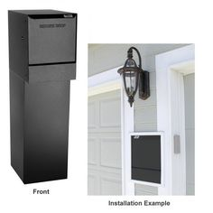"dVault® Mailboxes WallMount Vault Kit, Complete Assembly, Top Vault And Bottom Key-Locked Storage Compartment, Delivery Vault DVWM0062SA-1-Kit, Black by DVault. $719.82. Fits between wall studs (16"" centers) for easy installation in any stage of construction or remodel. Stainless steel hinges and fasteners. Constructed from heavy-duty 16 gauge galvannealed-steel with durable powder coated finishes. Delivery door mechanism is set forward 4 inches for flush mount to exterio..."