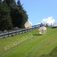 Zorbing... There's actually a place around CT that has zorbing & I want to try! Woodbury Ski Area