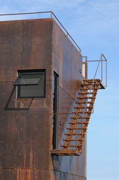 steel staircase outdoor industrial architecture  Japanese Trash masculine design ymmv tastethis inspiration