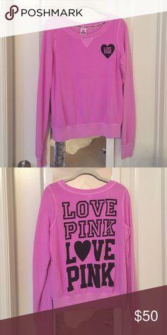 NWOT Victorias Secret PINK crew neck sweater Color: Fuchsia; never worn before! PINK Victoria's Secret Sweaters Crew & Scoop Necks