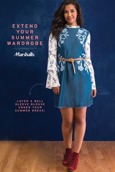 Don't put away those dresses just yet — extend your summer wardrobe into fall! The bell-sleeve top is not only on-trend, but it's so versatile. (We love this fall floral!) Layer it under your summer dresses to instantly update your look for the office, a night out or brunch! Save on fall's must-have pieces at Marshalls.