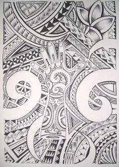Jooli Dessin pour Tatouage Maori Polynésien