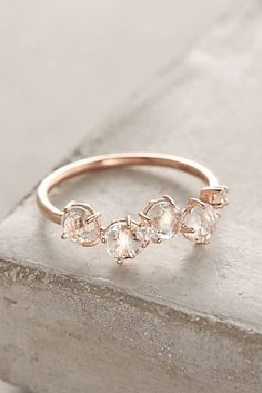 Anthropologie Gold Gemstone Bar Ring rose gold or yellow gold, white topaz, white diamond carat total weight diamonds Handmade in the USA Style No. Cute Jewelry, Gold Jewelry, Jewelry Box, Jewelry Rings, Jewelery, Jewelry Accessories, Jewelry Ideas, Stylish Jewelry, Pandora Jewelry