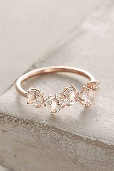 14k Gold Gemstone Bar Ring More
