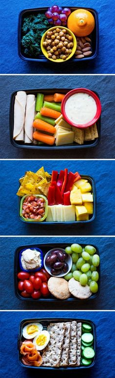 These grab-and-go snack boxes are easy to put together and each one is loaded with protein and fiber to satisfy that mid-afternoon rumble in your tummy. // snacks // meal prep // back to school // quick and simple // snack ideas // healthy food // eat cle Snack Recipes, Cooking Recipes, Healthy Recipes, Yummy Recipes, Diet Recipes, Healthy Foods To Eat, Healthy Eating, Vegan Foods, Paleo Diet