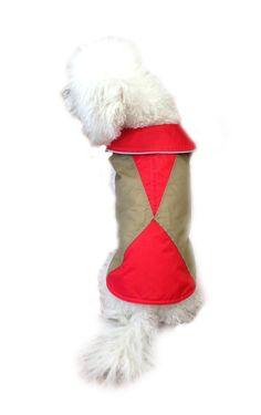 Legitimutt Geometric Nylon Dog Raincoat, Size 24, Khaki/Hot Pink -- Insider's special review you can't miss. Read more  : Dog coats