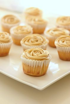 baking = love: Lemon cupcakes with brown sugar cream cheese frosting