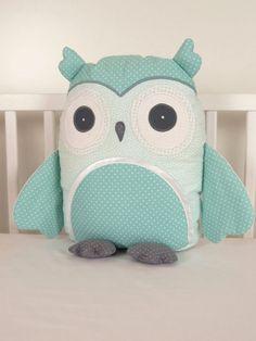 #owl #pillow #animal #children #babyowl